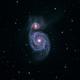 M51 - The Whirlpool Galaxy LRGB,                                Brian Poole