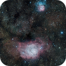 M8 Lagoon and M20 Trifid,                                Dan Broyles