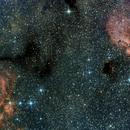 NGC 6357 - Hummernebel mit Katzenpfotennebel,                                Stefan Benz
