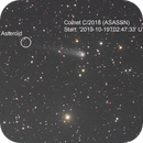 Comet C/2018 N2 (ASASSN) and an Asteroid: Animation,                                  Eric Coles (coles44)