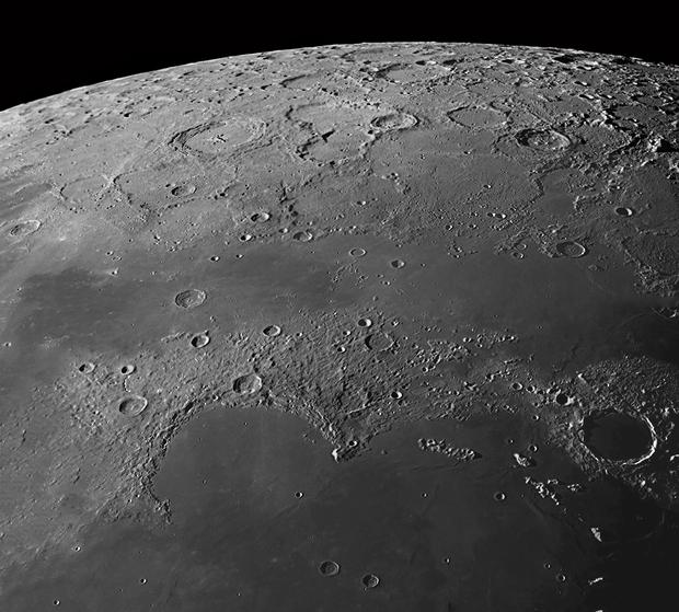 Lunar North Pole, final panorama,                                MAILLARD