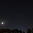 Planetary Alignment April 16, 2020 - Moon, Mars, Saturn and Jupiter,                                JD