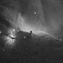 IC434 - Horsehead Nebula in Ha,                                West Woods Observatory
