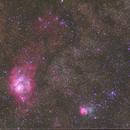 Trifid and Lagoon nebulae,                                Boommutt