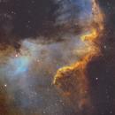NGC 7000 - great wall in Cygnus in Hubble palette,                                Piet Vanneste