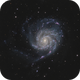 M101 The Pinwheel Galaxy in LHaRGB,                                Kevin Ross