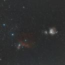 Les nébuleuses d'Orion en 34min,                                Nicolas JAUME