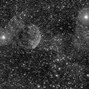 IC443 - Jellyfish Nebula - 20200307 - Kelda 135mm F1.8 - Ha,                                altazastro