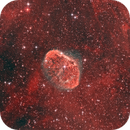NGC 6888 - Crescent Nebula with PN G75.5 + 1.7: Soap Bubble Nebula (Discovered in 2008 by Dave Jurasevich),                                Domenico Cataldi