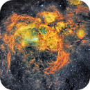 Lobster Nebula NGC6357 in SHO narrowband,                                robonrome