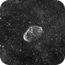 Ngc 6888 Crescent Nebula in Halpha From city center - Collaboration Pk825 Pool187,                                Paolo Zampolini