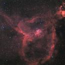 Nébuleuse du coeur Heart Nebula IC1805,                                LeCarl99