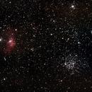 M52 & Bubble nebula,                                Geert Vanden Broeck