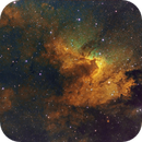 Cave Nebula (Sh2-155) in false color,                                oystein