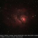 M8 - the lagoon nebula,                                marco girardini