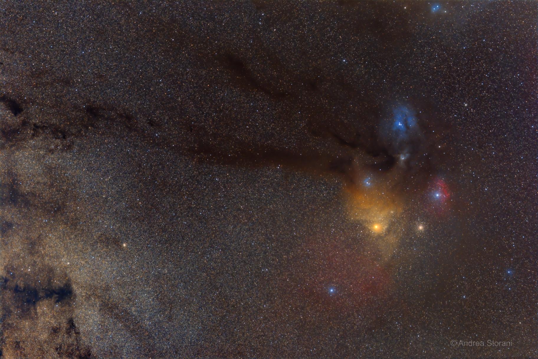 Antares wide field area,                                Andrea Storani