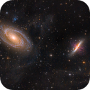 Bode's and Cigar Galaxies with IFN/Cirrus,                                Anthony Quintile