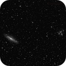 NGC 7331 and Stephan's Quintet - a b&w preview,                                MicRaWi