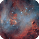 """Running Chicken Nebula Heart - IC 2948 - """"NB"""" and Visual Version - LRGBHaOIII by Insight Observatory :-),                                Daniel Nobre"""