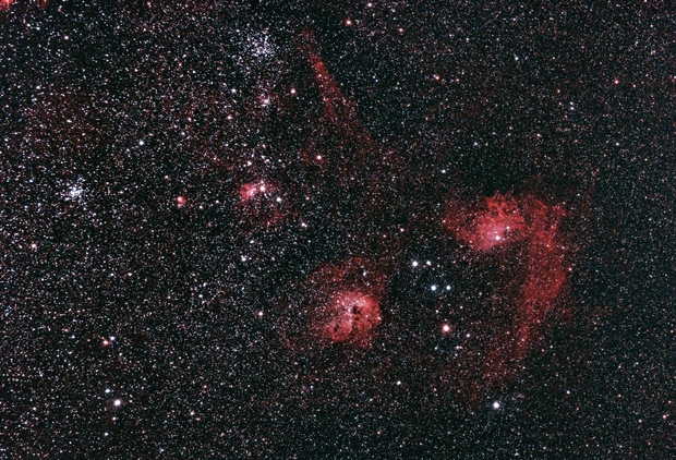 Clusters and Nebulae in Auriga,                                K. Schneider