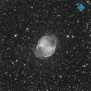 M27 Dumbbell Nebula - luminance test shot,                                Francesco di Biase