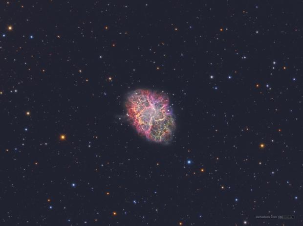 Crab Nebula (M1) in HSOrgb,                                Jose Carballada