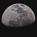 Waxing Gibbous Moon LRGB,                                Eshan Toorabally