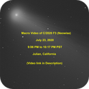 Macro Video of C/2020 F3 (Neowise) - Video link in Description,                                KuriousGeorge