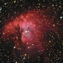 NGC281 - Pacman Nebula - Ha RGB,                                Almos Balasi