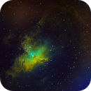 1st mono attempt - Eagle Nebula M16,                                Wissam_Astrophoto...