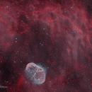 NGC6888 - Crescent Nebula in HOORGB,                                Tim Hutchison