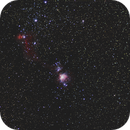 Orion wide field / PentaxK3 II + Samyang 85mm f/1.4 / Astrotracer (no mount) / 400iso,                                patrick cartou