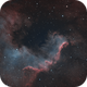 Cygnus Wall - L-Enhance (simulated HOO),                                geeklee