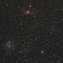 Bubble Nebula and M52,                                Eric MAZALEYRAT