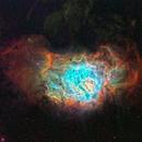 Lagoon Nebula in SHO,                                David Lindemann