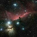 Horsehead nebula and Flame nebula under dark sky in 1660m altitude,                                jarosatori