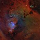 Cone Nebula - NGC2264 in SHO-LRGB,                                equinoxx