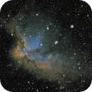 NGC 7380 Wizard Nebula (Experimental shot at full moon),                                Crazy Owl Photogr...