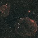 Sh2-223 and Sh2-224 in Auriga,                                John Stiner