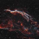 NGC 6960 Western Veil Nebula 20210531 19200s HOO 01.4.3,                                Allan Alaoui