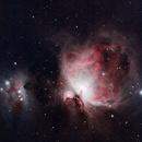 Orion and Running Man Nebulas - My First Attempt,                                Jon Rista
