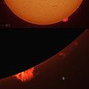 Sol H alfa and prominences,                                J_Pelaez_aab