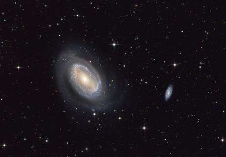 NGC 4725 and NGC 4712,                                Sergey Trudolyubov