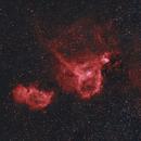 Heart and Soul nebulae in HOO,                                Andrew_B