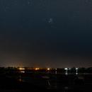 M45 rising over Heybridge Basin / River Blackwater, Essex 02:00 29/07/2020,                                Jason