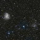 Fireworks galaxy (NGC 6946) and Open cluster (NGC 6939),                                Bojidar Marinov
