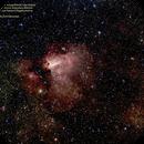 M17 (NGC6618) Omega?Swan Nebula,                                John Izzo