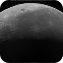 Lunar Disc, 33% Waning Crescent, 447 meters per pixel resolution in Day Light, 08-13-2020,                                Martin (Marty) Wise