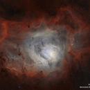 Messier 8 (Lagoon Nebula) in Ha[OIII] Bicolor,                                jheppell