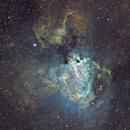 M17 in Hubble Palette crop,                                Terry Hancock